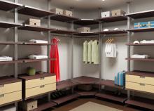 визуализация гардеробной комнаты