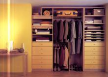пример визуализации гардеробной комнаты